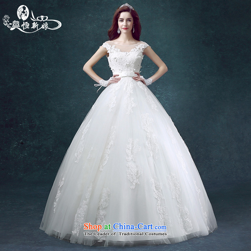 Noritsune bride first field shoulder Wedding 2015 spring/summer to align the new minimalist Sau San large Korean shoulders wedding female Sau San video thin temperament gentlewoman white XS