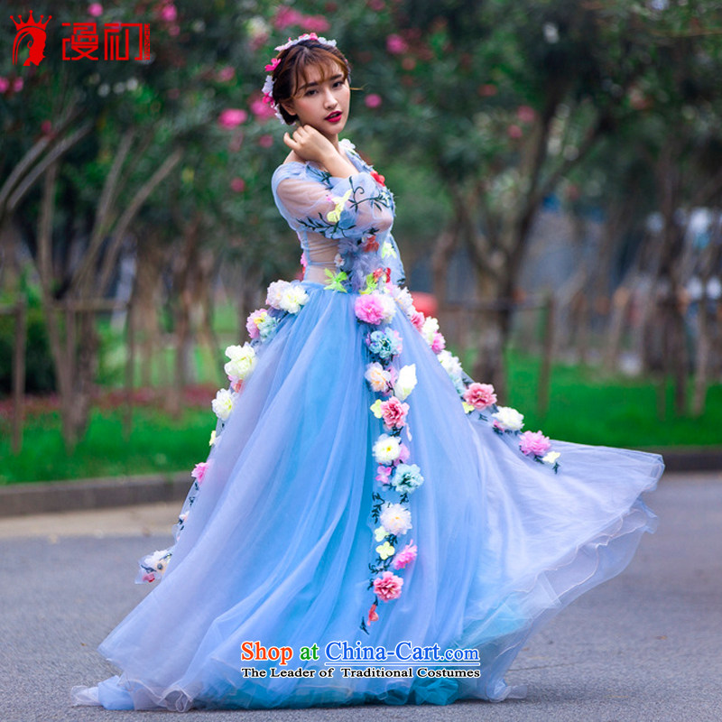 In the early summer of 2015, the new definition of the Flower Fairies  the word wedding shoulder length tail wedding light blue?M