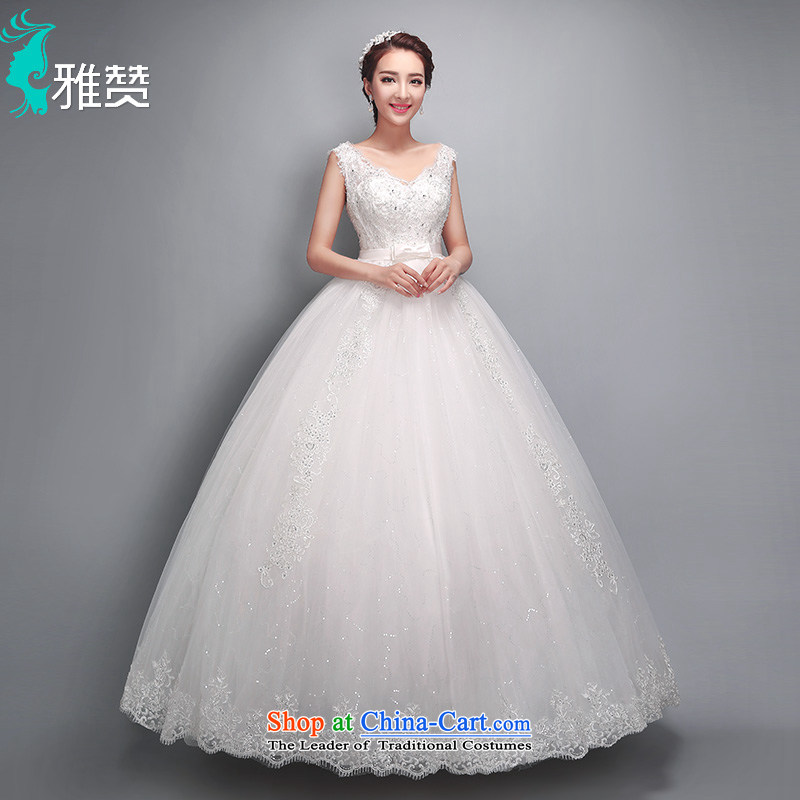 Jacob Chan pregnant women wedding dresses shoulders Top Loin of 2015 summer to align the new lace butterfly marriage ceremony bon bon wedding dress White?XXL