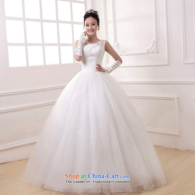 Charlene Choi Ling _yanling_2015 autumn new shoulders lace bride wedding dresses stylish Sweet graphics thin engraving align to tie, White?M
