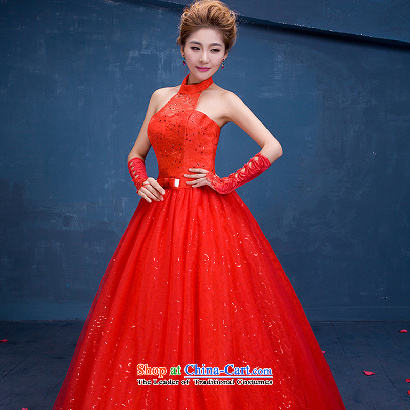 The autumn 2015 New China wind series wedding marriages also sweet elegant video-THIN RED wedding sexy lace red?XL