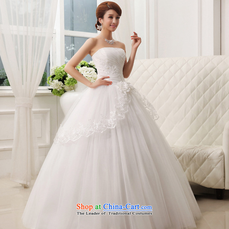 Charlene Choi Ling _yanling_2015 autumn new white lace align to skirt wedding white cupule XL