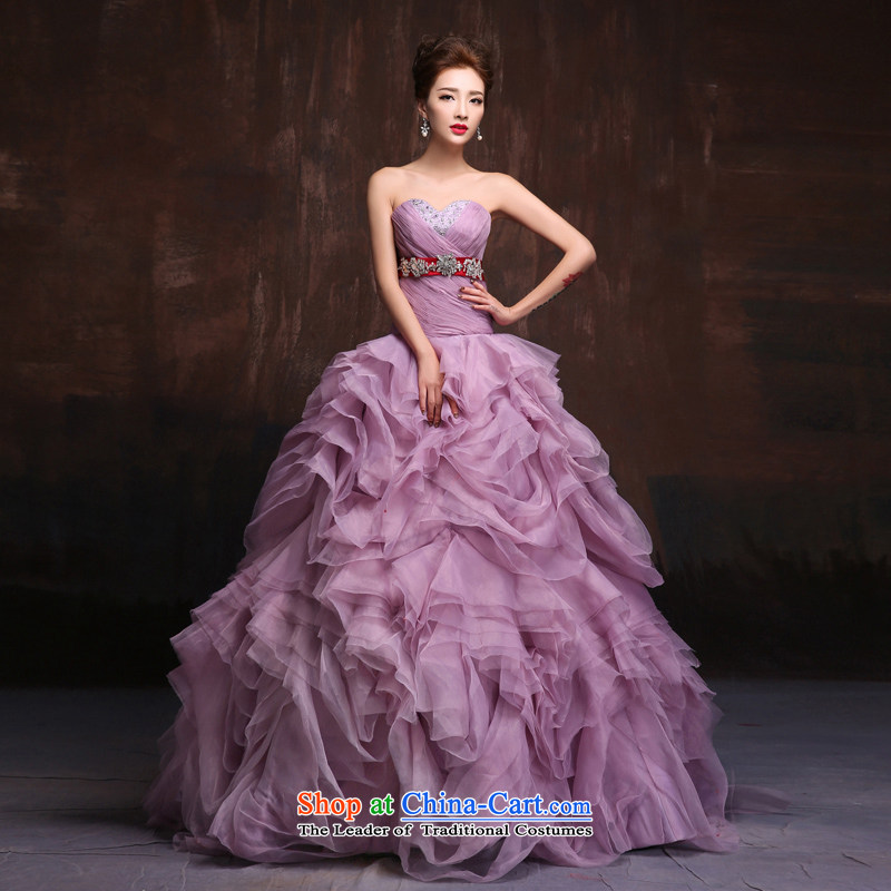 Sin sin introduction of the new spring, summer 2015 wedding dresses and slender, Sau San video evening dresses bon bon evening dress the usual zongzi color S not singling build
