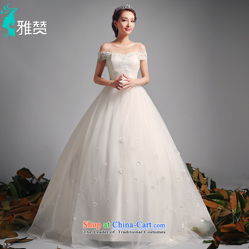 Jacob Chan wedding dresses tail of a field for your shoulders in the summer and autumn of 2015 the new Korean version of Sau San video thin wedding dress wedding retro palace to align the wind,?XXL