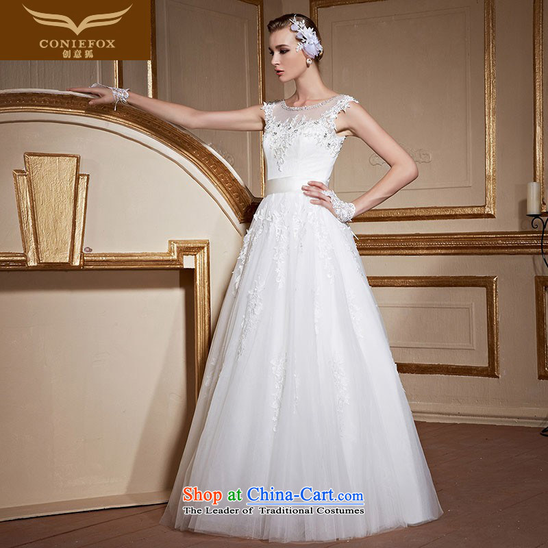 Creative New 2015 FOX white shoulders to align the wedding dresses and stylish large graphics thin marriages wedding tailored wedding 99053 tailored White