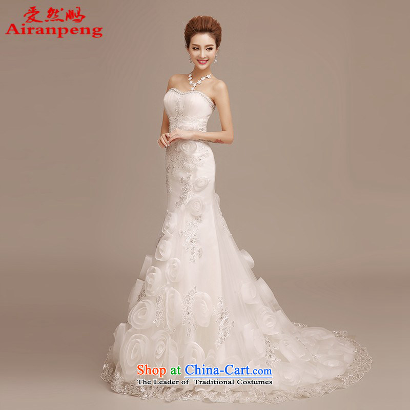 2015 new bride wedding dresses and minimalist red alignment with chest crowsfoot wedding video thin summer small trailing white streaks in the drill L package returning
