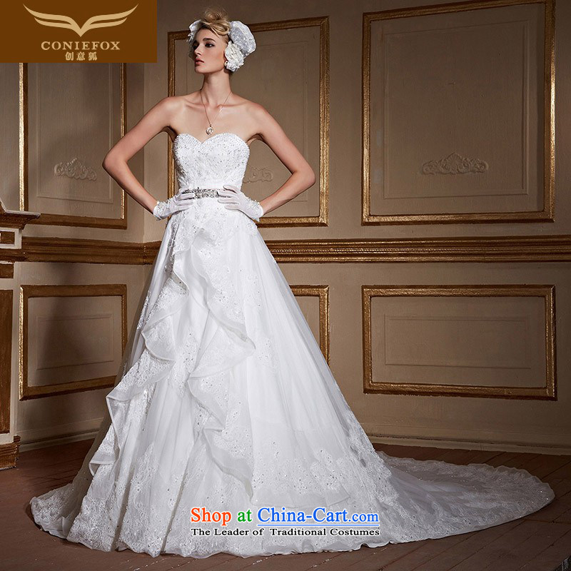 The kitsune anointed chest Creative wedding dresses Sau San tie tail marriages wedding white minimalist pregnant women for larger wedding tailored?99066?tailored White