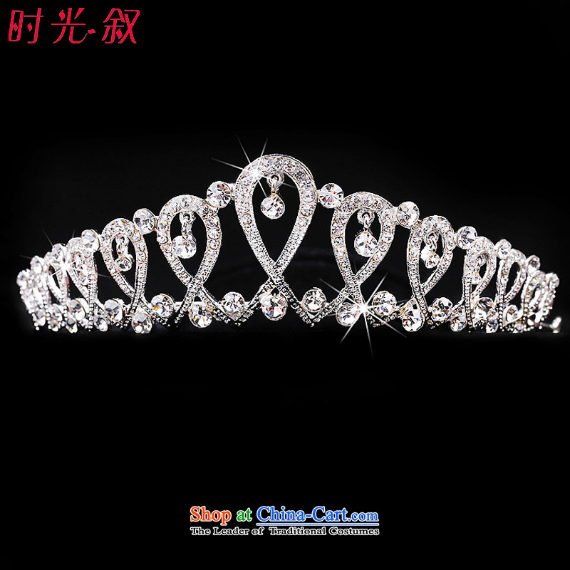 The Syrian brides head-dress hour three kit Korean style wedding Jewelry Ornaments yarn hair accessories crown necklace earrings wedding accessories crown
