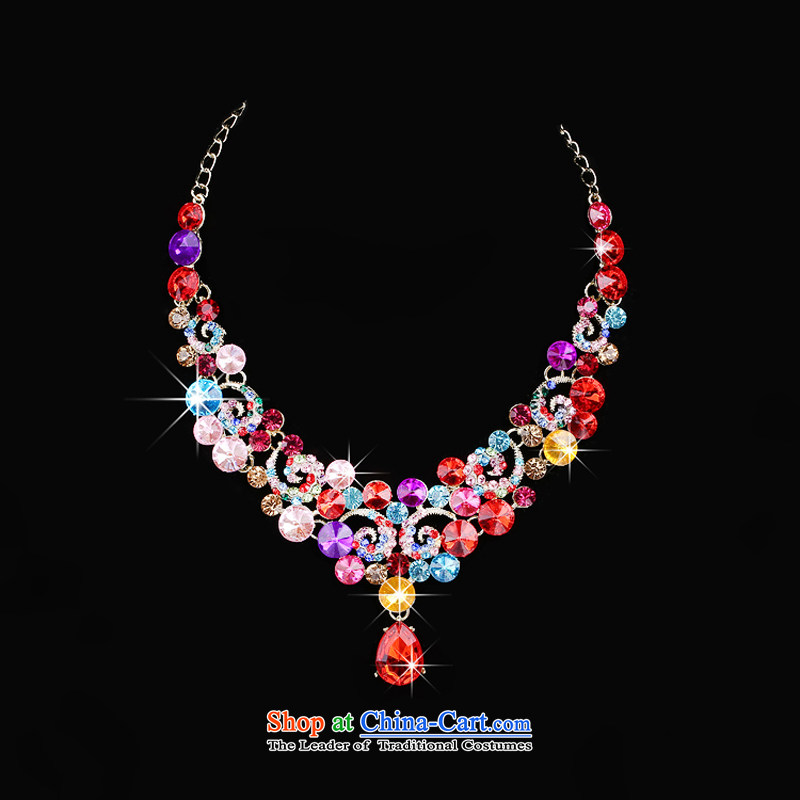 The Syrian brides head-dress moments of international crown necklace earrings kit 3 color large drill Jewelry marry hair decorations wedding accessories accessories Gift Box 3-piece set, Syria has been pressed time shopping on the Internet