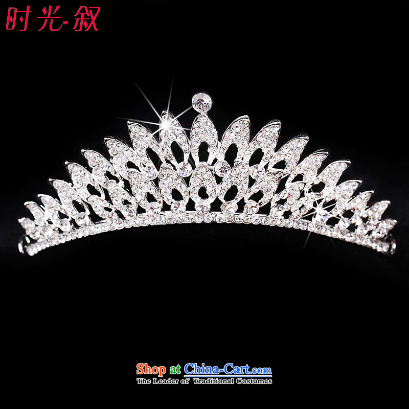 Time Syrian brides Jewelry marry Korean style necklace earrings crown headdress three kit package mail wedding dresses accessories hair accessories crown