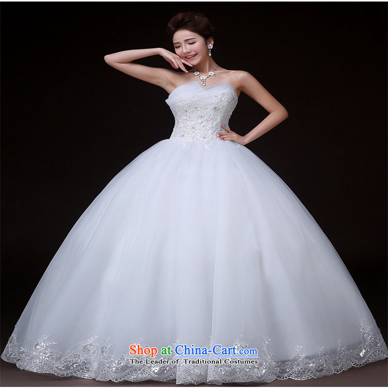The spring and summer of 2015, the Noble hannizi stylish and simple Korean style graphics thin tail Sau San bride wedding White?XL