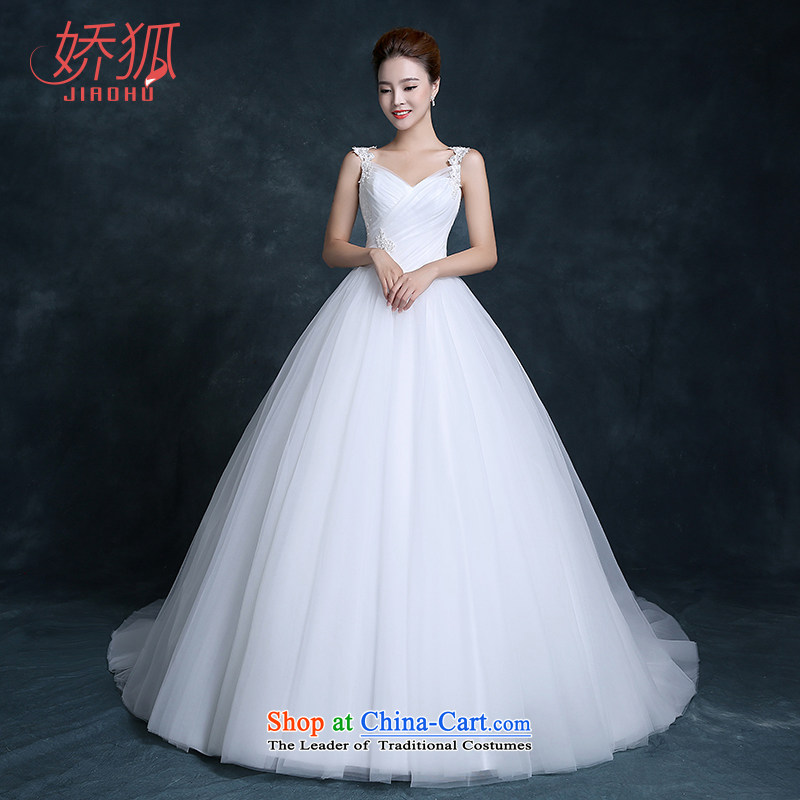 Use the new trendy fox wedding dresses Korean lace shoulders a small trailing your shoulders to simple and classy minimalist bride lace wedding white customization, Fox (jiaohu concubine) , , , shopping on the Internet