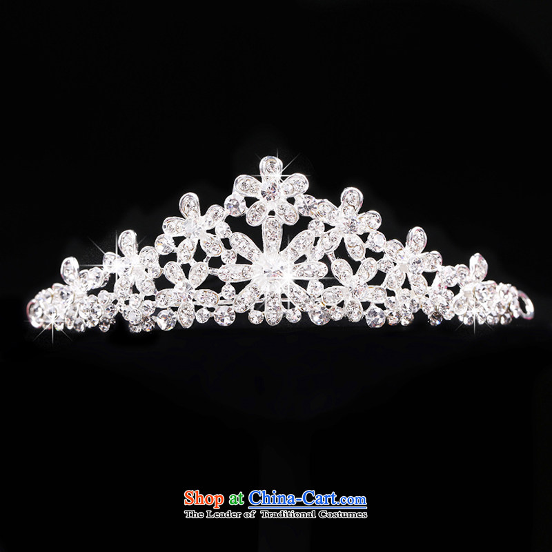 The Syrian brides time ornaments three kit crystal diamond necklace crown earrings headdress wedding Jewelry marry yarn accessories Gift Box 3-piece set, Syria has been pressed time shopping on the Internet