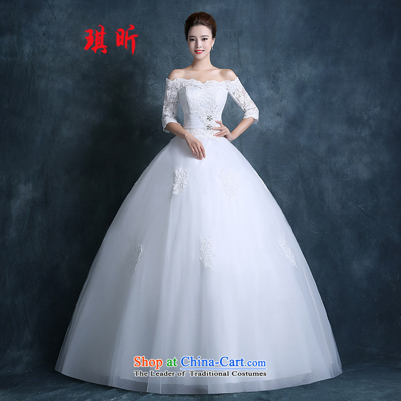 Xin Qi Wedding 2015 new autumn Korean word stylish shoulder bags your shoulders to lace wedding dress code custom, large white?S