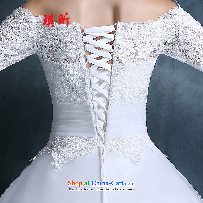 Xin Qi Wedding 2015 new autumn Korean word stylish shoulder bags your shoulders to lace wedding dress code custom, large white S, Qi Xin , , , shopping on the Internet