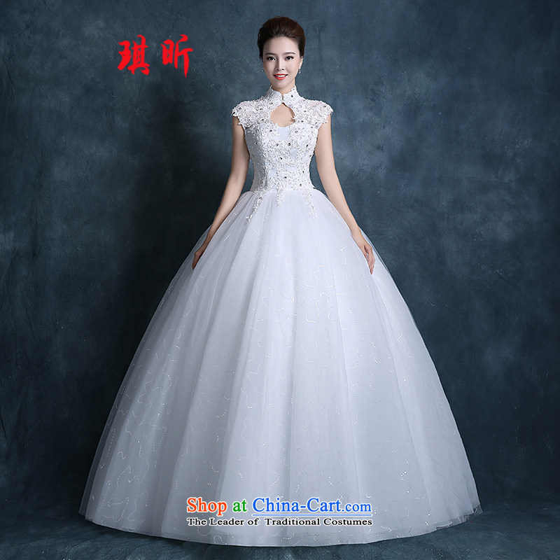 Xin Qi wedding dresses 2015 Autumn marriage new Korean brides video thin large for Sau San qipao lace align to Diamond White?XXL