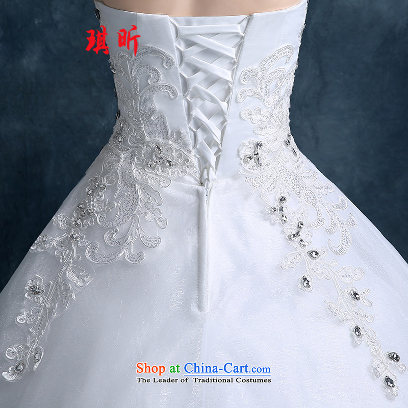 Xin Qi 2015 Autumn wedding dresses new bride flowers lace straps Korean Princess minimalist wiping the chest to wedding whiteS, Qi Xin , , , shopping on the Internet