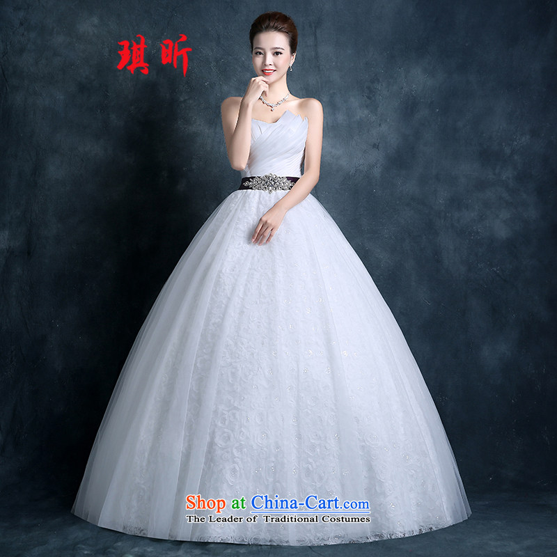 Xin Qi wedding dresses and summer 2015 chest to marriages video New Sau San thin princess wedding code Diamond White?XL
