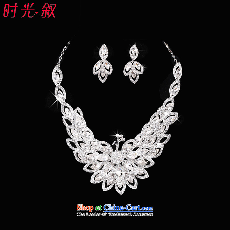 Time Syrian brides jewelry set new crown necklace earrings palace marriage kit wedding dresses accessories necklaces, earrings