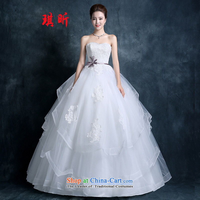 Xin Qi anointed chest wedding dresses new stylish autumn 2015 version of large video decode won thin lace align marriages to Princess White�M