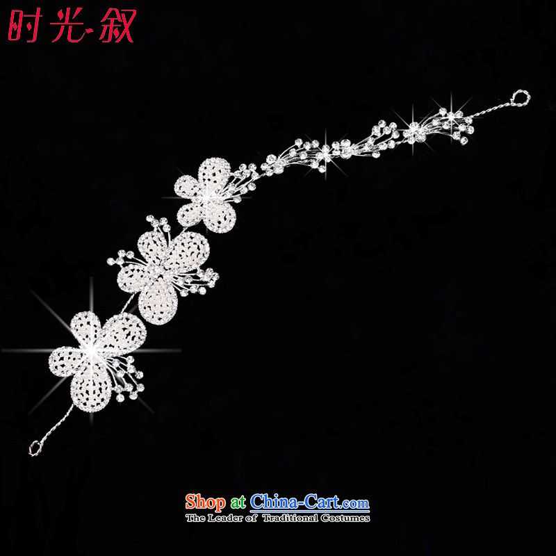 Syria Korean brides time jewelry disc from the game by Ornate Kanzashi manually pearl hair accessories accessories yarn marriage photo building styling Head Ornaments Butterfly Flower)