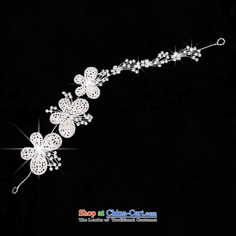 Syria Korean brides time jewelry disc from the game by Ornate Kanzashi manually pearl hair accessories accessories yarn marriage photo building styling Head Ornaments Butterfly, time spent in Syria has been pressed shopping on the Internet