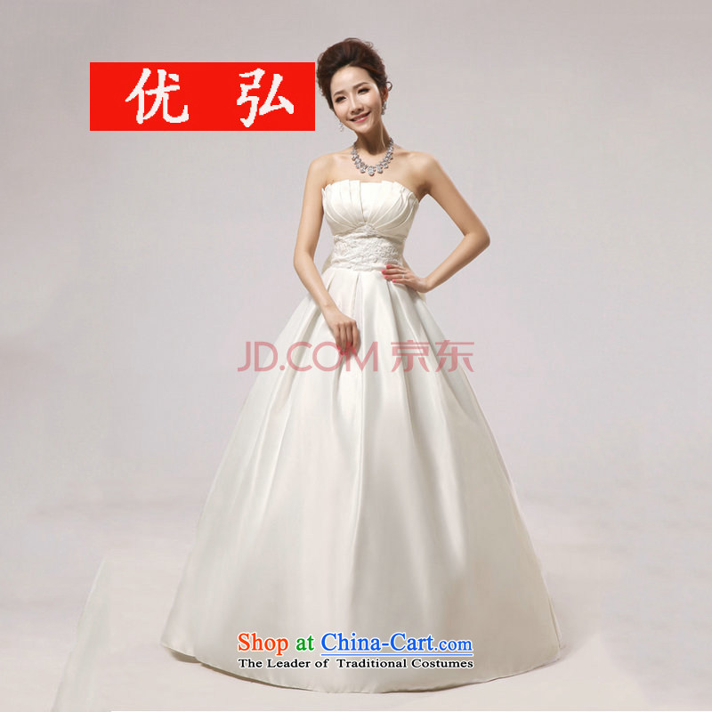Optimize video new Korean brides anointed chest to wedding dress shell graphics thin wedding dresses XS8051 package?XL