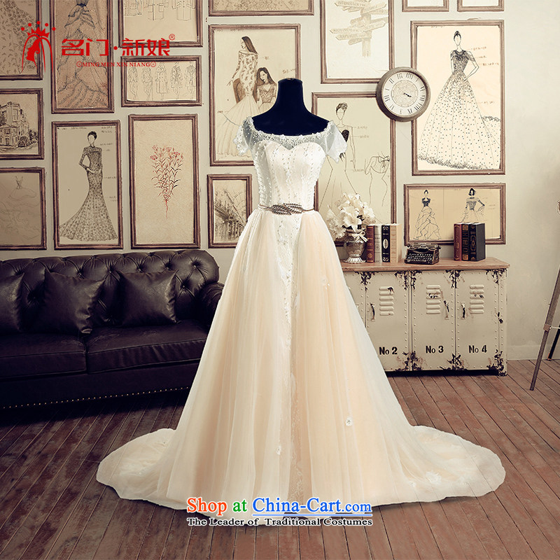 A Bride wedding dresses the Word 2015 Summer shoulder tail wedding 2,615 champagne L