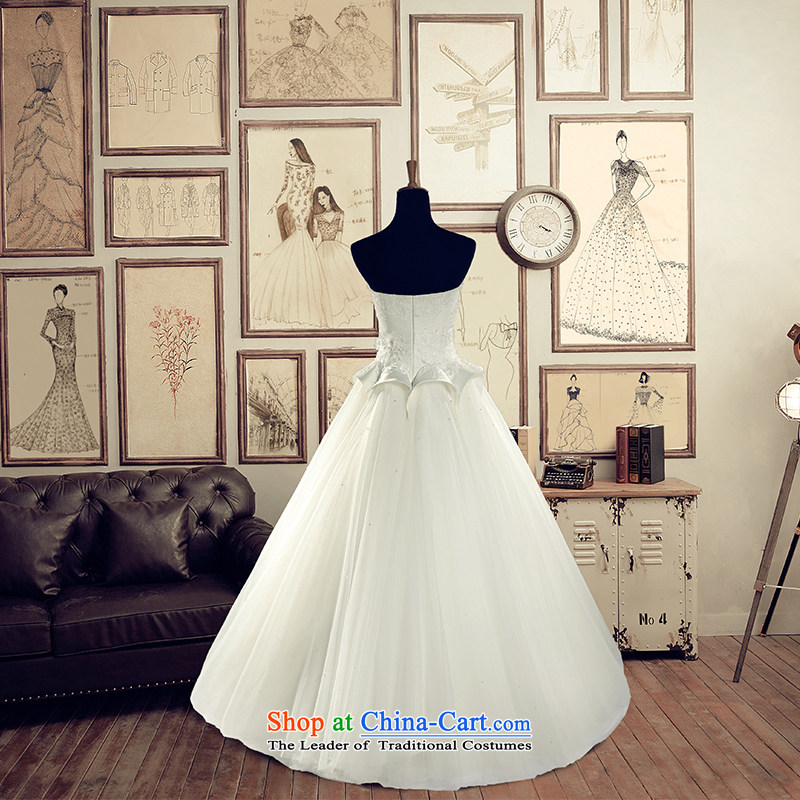 A Bride wedding dresses2015 Summer anointed chest to wedding 2629WhiteXL, a bride shopping on the Internet has been pressed.