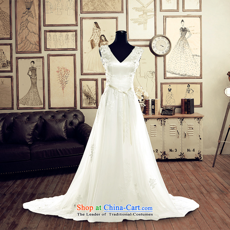 A Bride wedding dresses?2015 Summer white wedding Korean tail crowsfoot long 2,630 White?DZ tailored plus 20%