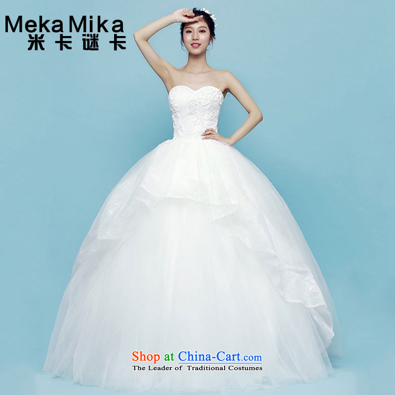 A multi-pass through m card yarn Zi Teng wedding summer tail new chest anointed by 2015 Korea before long after a short version of the Wedding Dress Short long after the former + bon bon skirt + yarn�S