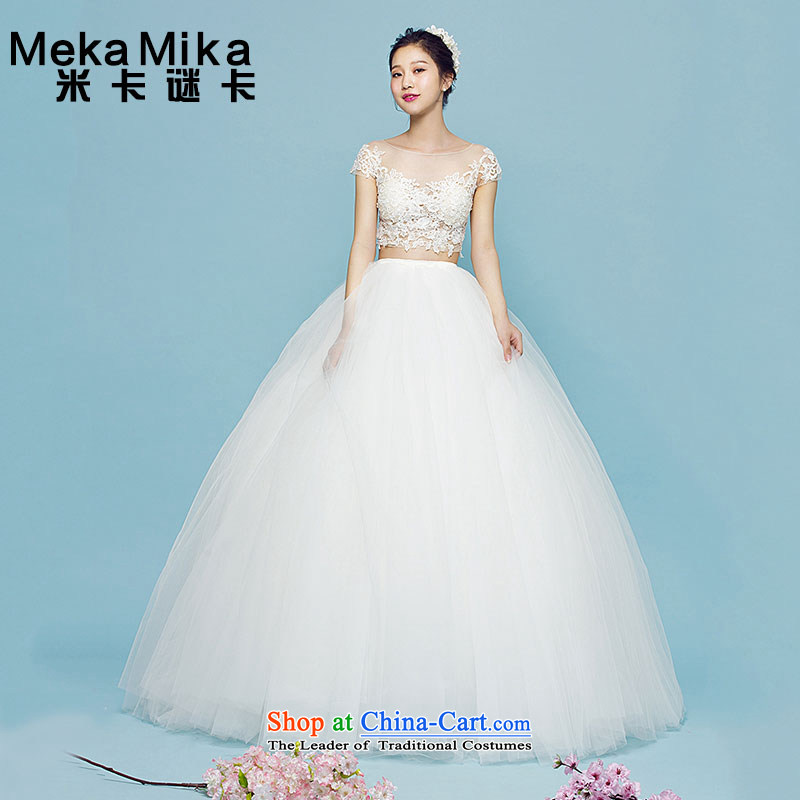 M card director- Wedding 2015 Summer alignment with Chest Sau San video thin marriage wedding Korean lace bon bon skirt wedding ivory?S
