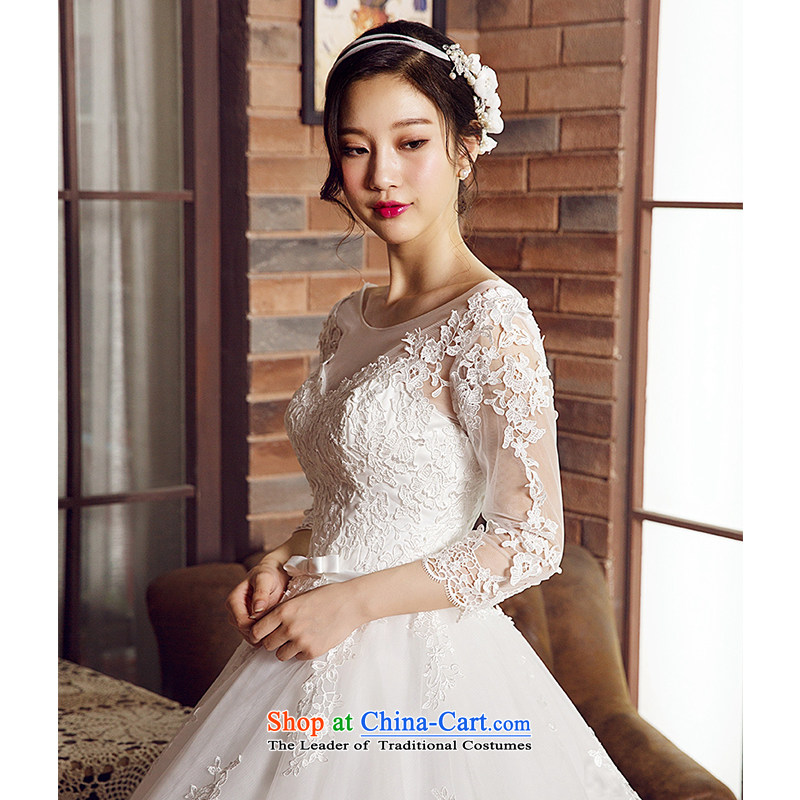 M Card Gardenia Wedding 2015 new summer marriages long tail and chest Korean brides wedding dresses ivory , L, M card mystery card (MEKAMIKA) , , , shopping on the Internet
