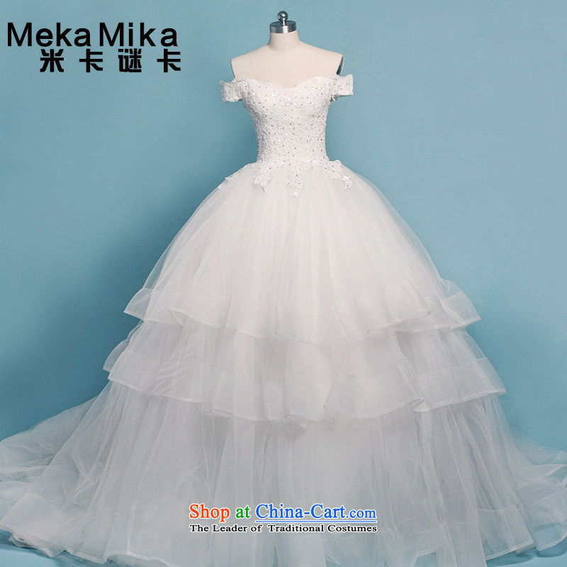 M card datura Wedding 2015 Summer tail and chest-Korean word wedding shoulder summer marriages wedding ivory?M