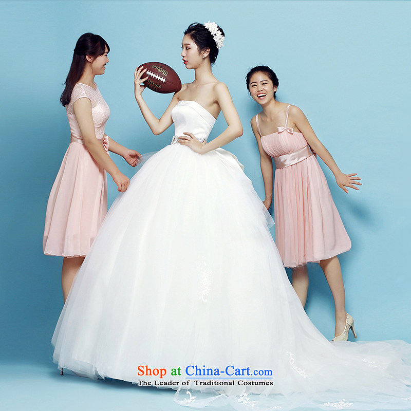 M card, Bridal Suite 2015 summer to align the minimalist wedding dress bon bon anointed chest Korean marriages wedding dresses ivory S M card mystery card (MEKAMIKA) , , , shopping on the Internet