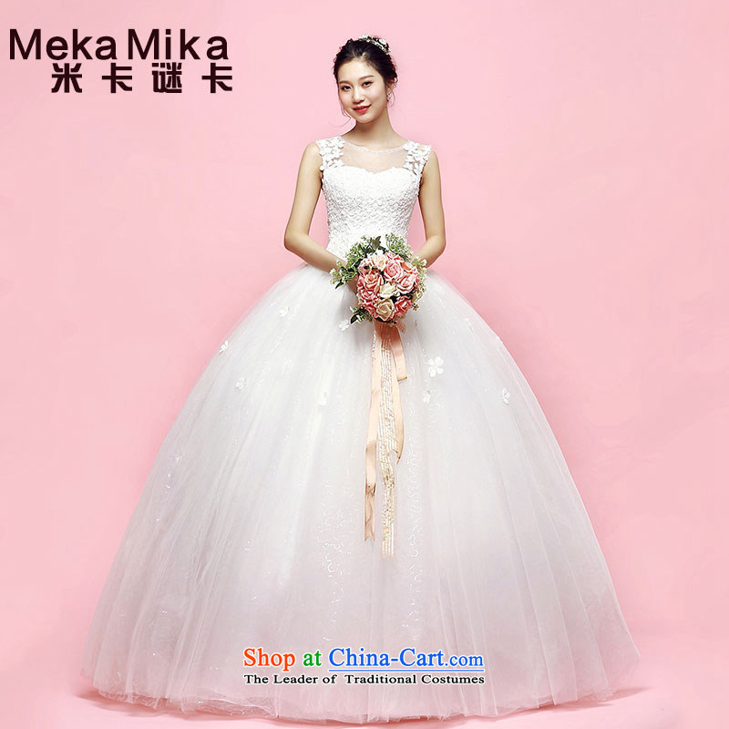 M card. Hehuan shoulders wedding video thin bon bon skirt 2015 new summer to align the Korean brides heart-shaped fluoroscopy back ivory?L