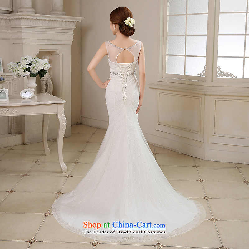 Time of autumn and winter 2015 Syria at the wedding dress shoulders crowsfoot small trailing wedding dresses new bride sexy anointed chest marriage Sau San wedding female video thin white XL, Syria has been pressed time shopping on the Internet