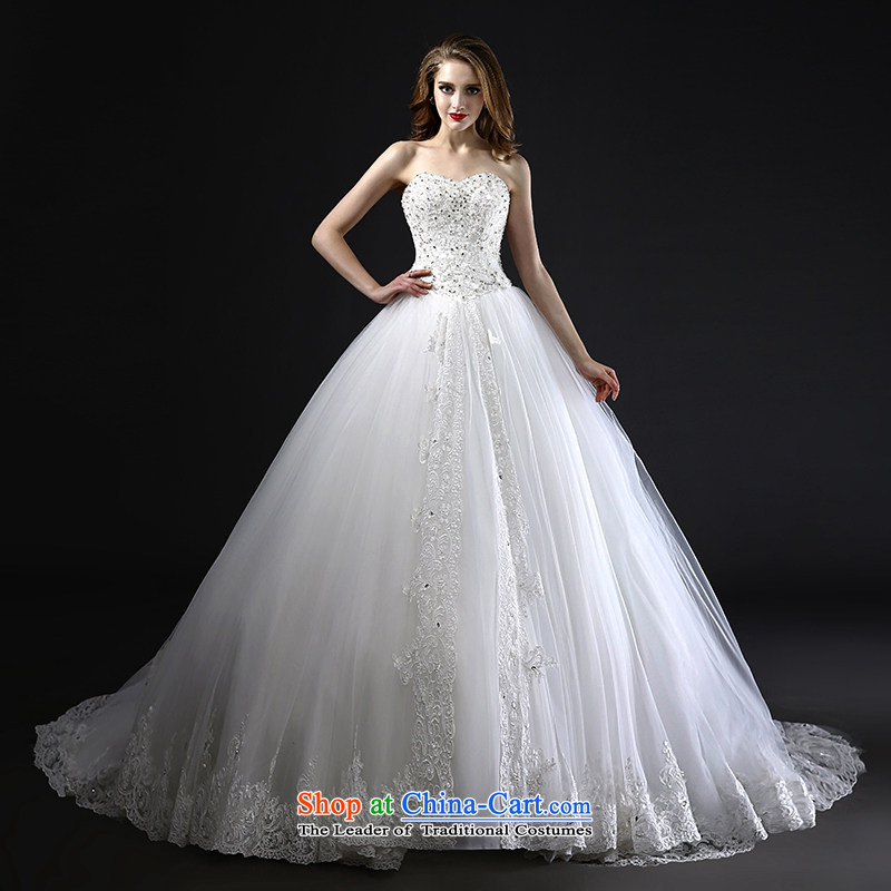 Mr Model Wedding?2015 new high-waist with chest bon bon princess A swing tail pregnant women lace quality custom?M