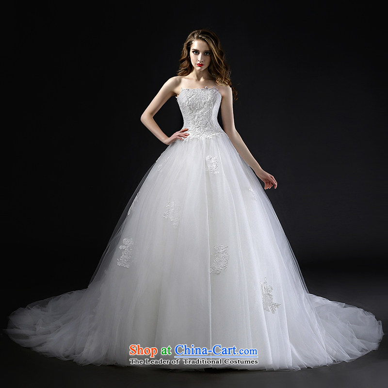 Mr model wedding quality custom?2015 Summer new high-waist with chest bon bon smearing A large petticoats pregnant women with lace wedding?M