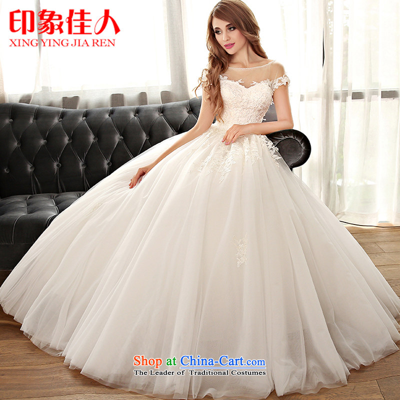 Starring impression of the Word 2015 new shoulder for brides wedding dresses to align the large number of Sau San lace tailor the straps of higher-end custom?M