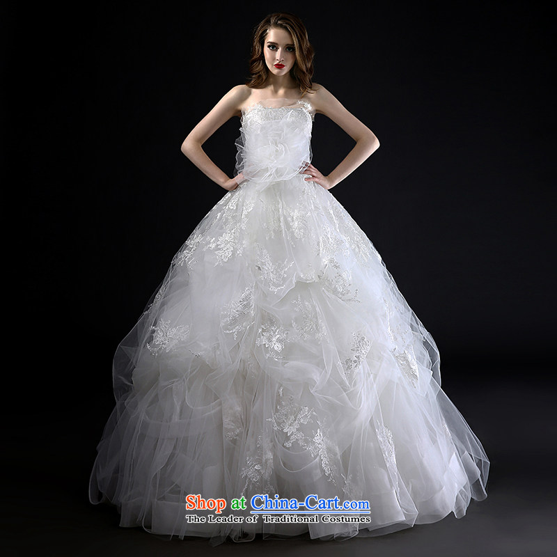 Mr model wedding advanced customization?2015 Summer New Wang weiwei anointed chest bon bon petticoats and stylish high-lumbar manually blossoms silk wedding tailor the?35-day delivery