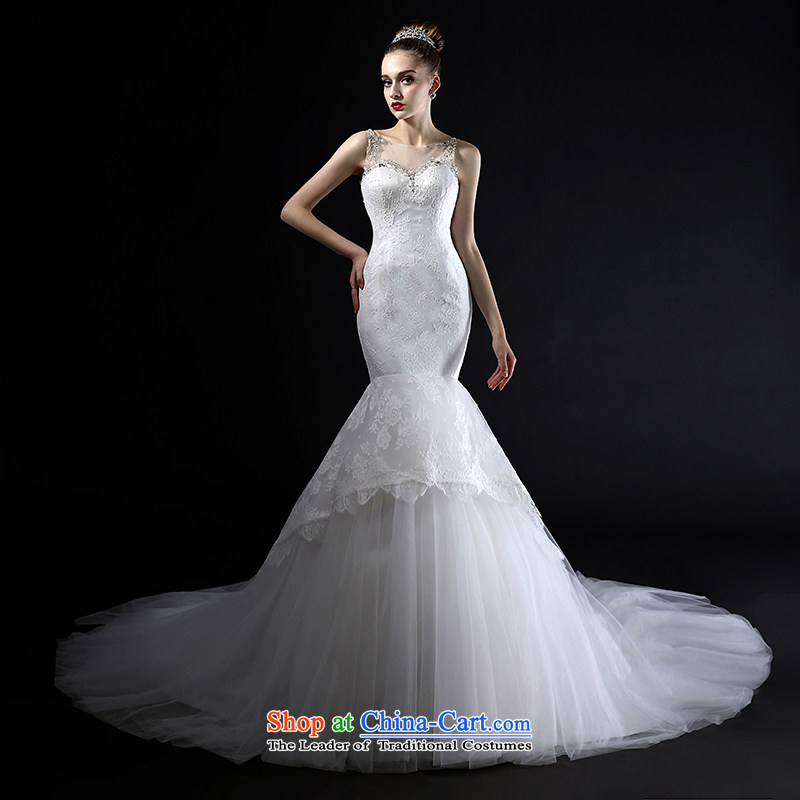Mr model wedding advanced customization?2015 new long tail foutune crowsfoot wedding fashion back to manually France soft lace wedding customised tailor the?35-day delivery