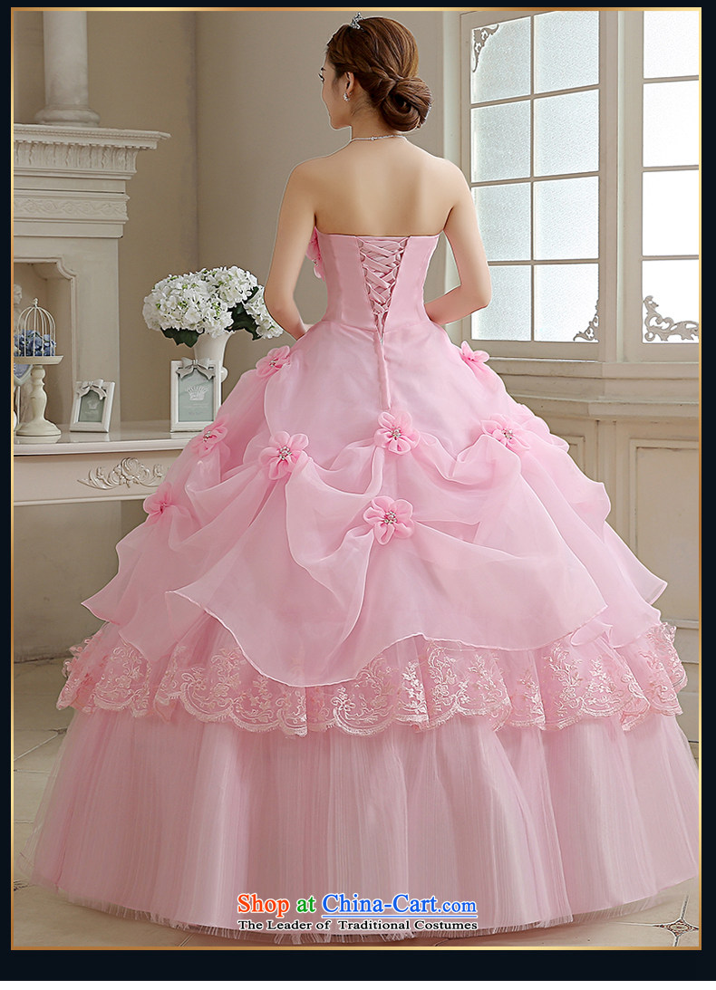 Rain-sang yi bride wedding dress 2015 new Korean sweet princess pink ...