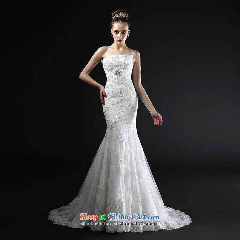 Mr model wedding quality custom?2015 Summer new crowsfoot tasteful minimalist tail feathers anointed chest fresh temperament with lace wedding?M