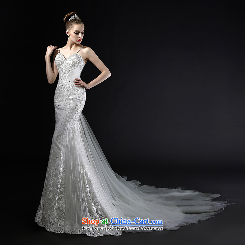 Mr model wedding quality custom?2015 new reset manually staple-ju long tail foutune crowsfoot straps and sexy back France lace wedding tailor the?35-day delivery