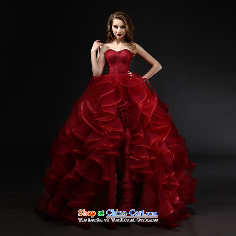 Mr model wedding upscale tailored Wang weiwei 2015 new wine red anointed chest bon bon skirt the yarn lace niba petticoats wedding wine red tailored picture, prices, brand platters! The elections are supplied in the national character of distribution, so action, buy now enjoy more preferential! As soon as possible.
