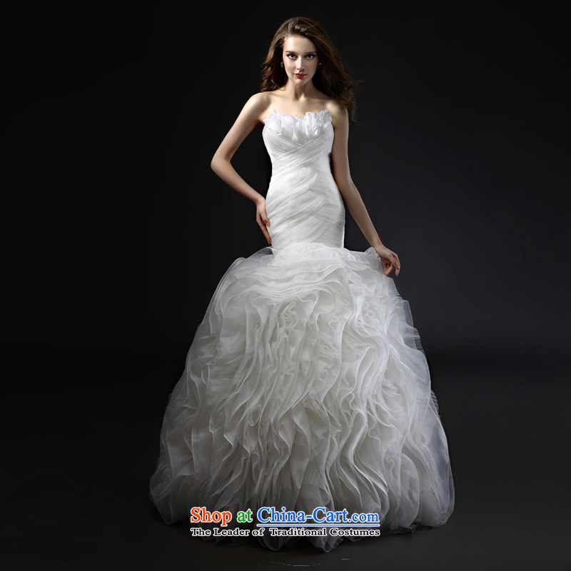 Mr Model Wedding 2015 new quality custom feather anointed chest package and crowsfoot manually Sau San grasp the folds the yarn niba petticoats wedding tailored tailor the 35-day delivery
