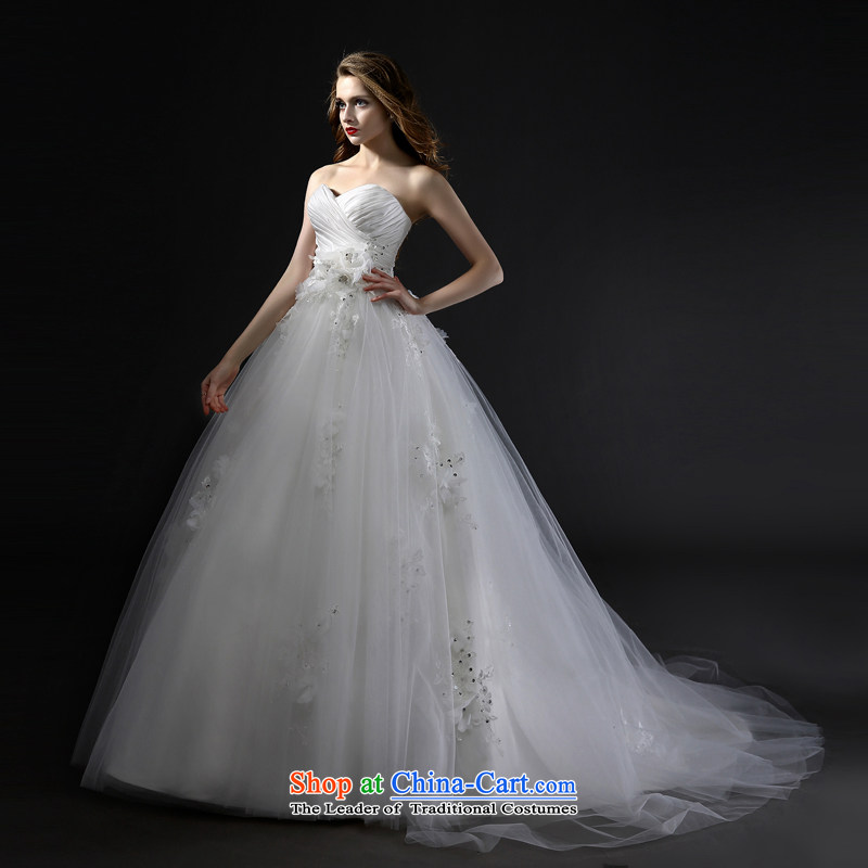 Mr model wedding advanced tailored 2015 new Korean version manually with flowers and chest bon bon A skirt tail Top Loin of large pregnant women for larger wedding tailored35-day delivery, Model , , , shopping on the Internet