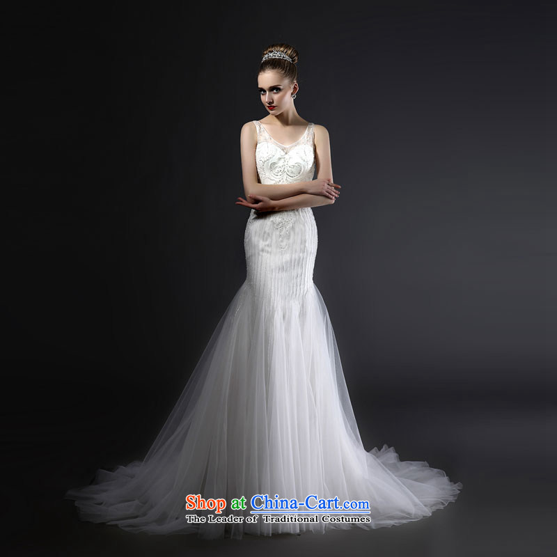 Mr Model Wedding 2015 advanced new tailored strap Sau San sexy back from the belt and the smearing reset manually crowsfoot beaded wedding tailor the 35-day delivery