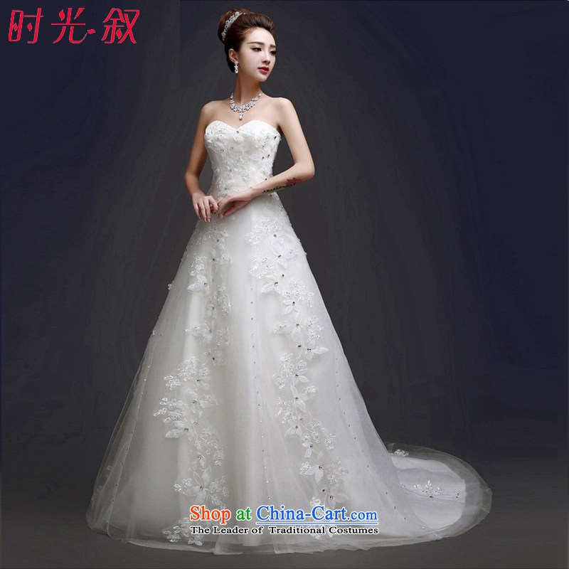 Time Syrian wedding dresses 2015 Korean bridal lace princess alignment with chest A Swing Sau San new autumn and winter boutique tail,�XXL